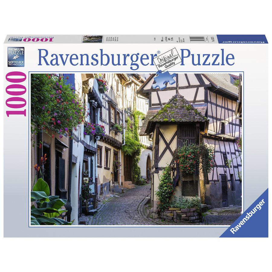 Het Franse dorp Eguisheim in de Elzas - puzzel van  1000 stukjes-2