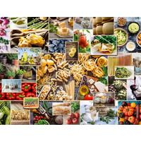 thumb-Food Collage  - puzzel van 2000 stukjes-1