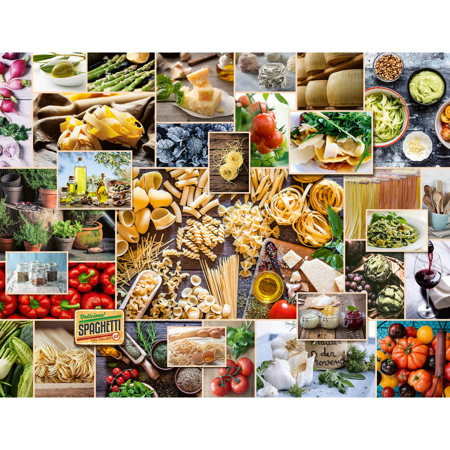 Food Collage  - puzzle of 2000 pieces-1