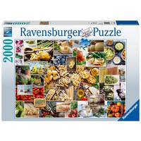 thumb-Food Collage  - puzzel van 2000 stukjes-2