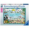 Ravensburger Ik wil zee - Sheepworld - puzzel 1000 stukjes