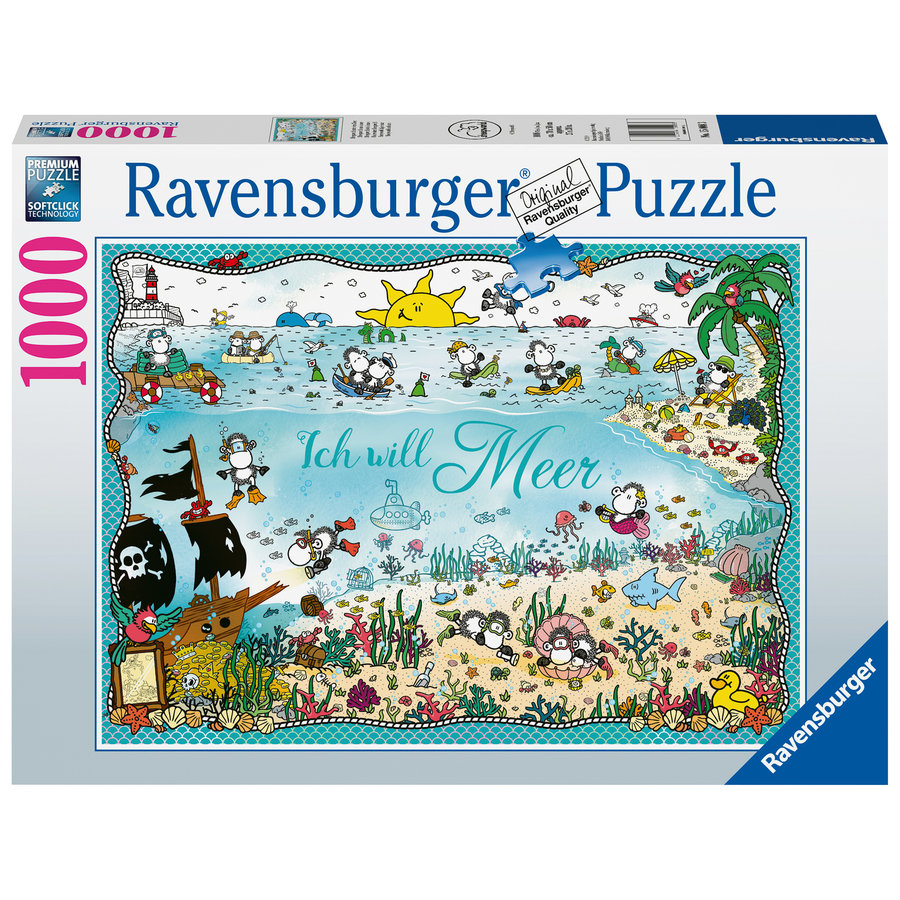 Ik wil zee - Sheepworld - puzzel 1000 stukjes-1