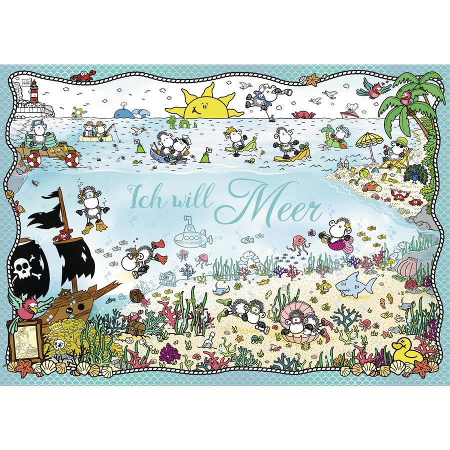Ik wil zee - Sheepworld - puzzel 1000 stukjes-2