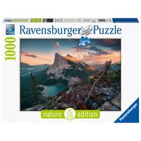 thumb-De avond in de Rocky Mountains - puzzel van  1000 stukjes-2