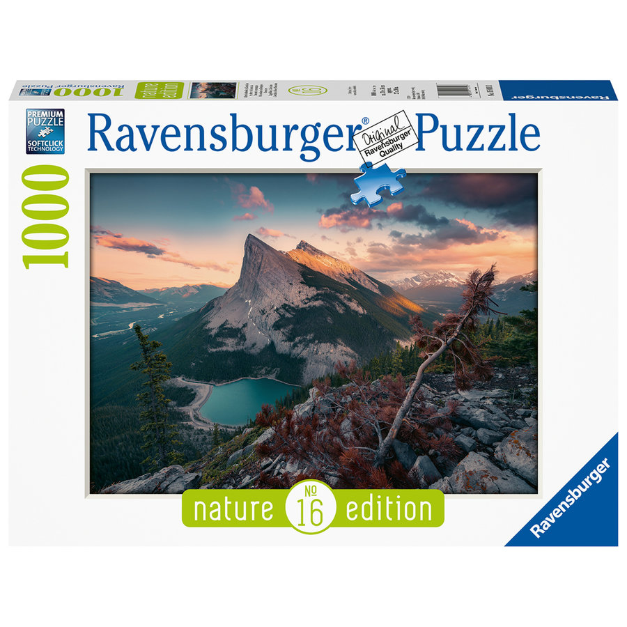 The evening in the Rocky Mountains - puzzle of 1000 pieces-2