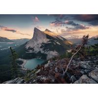 thumb-De avond in de Rocky Mountains - puzzel van  1000 stukjes-1