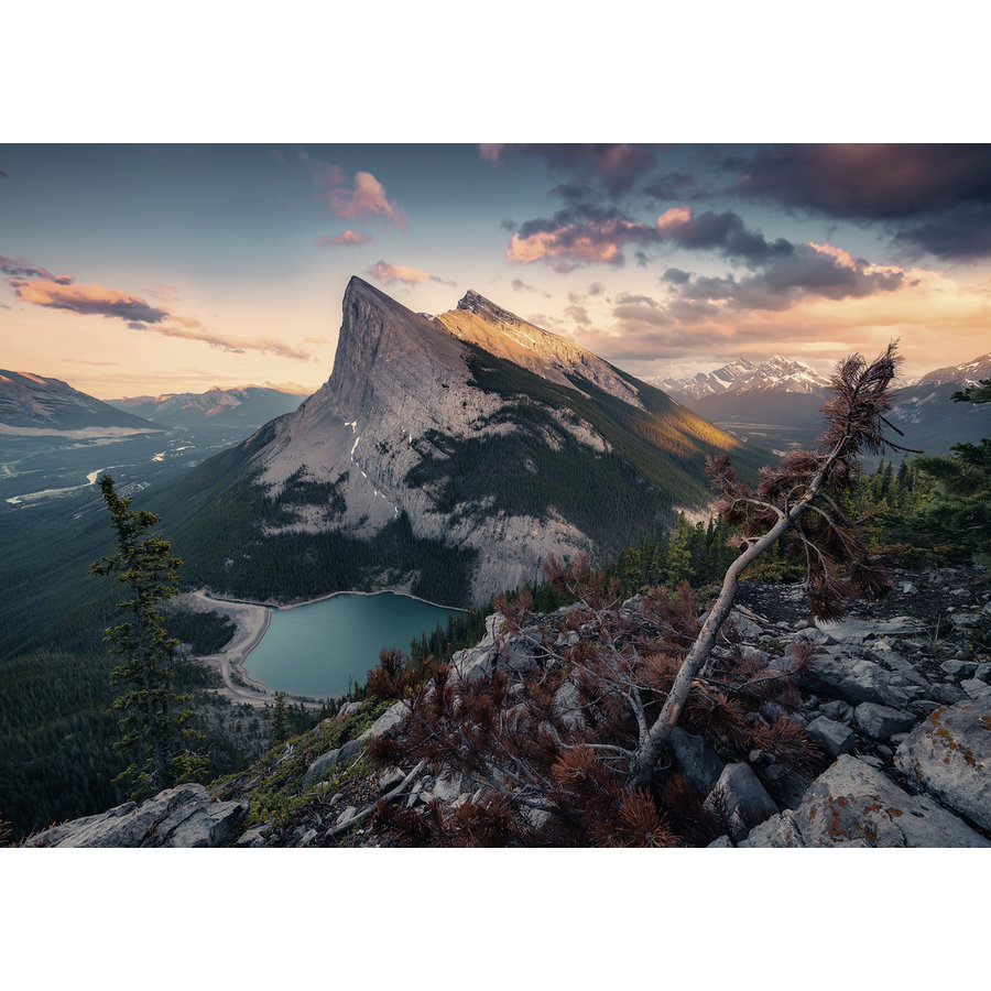 The evening in the Rocky Mountains - puzzle of 1000 pieces-1