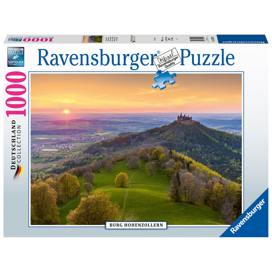 Burg Hohenzollern in Germany - puzzle of 1000 pieces-2
