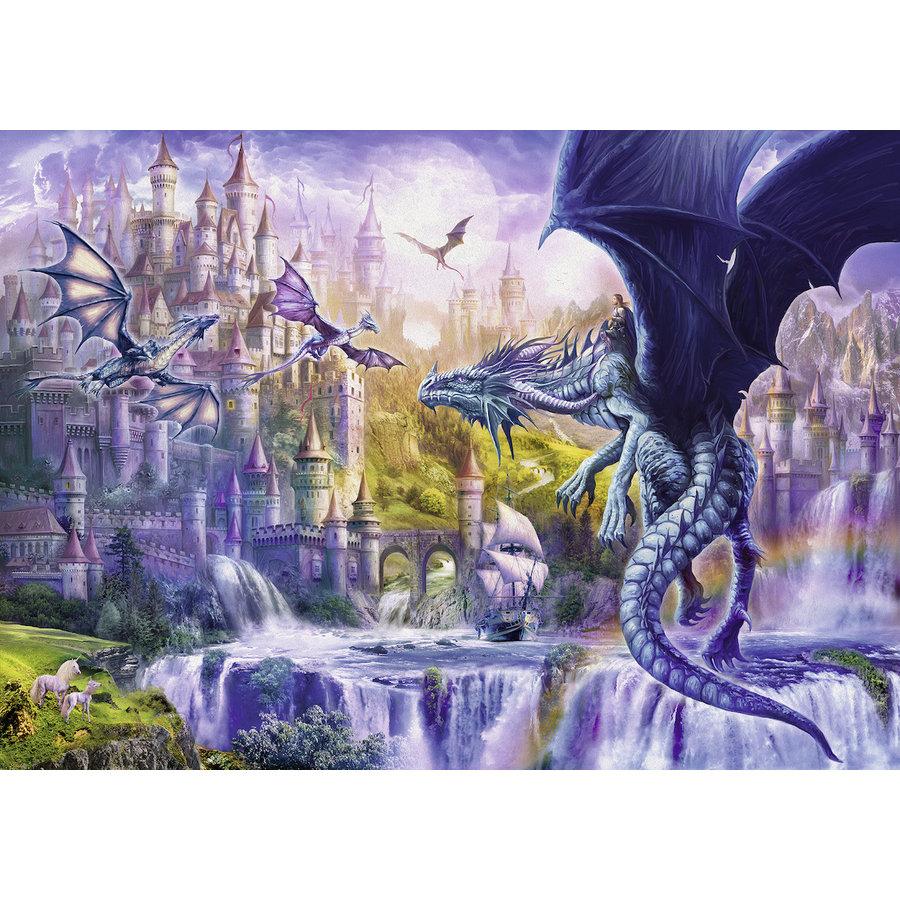 Le château des dragons - puzzle de 1000 pièces-1
