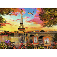 thumb-The banks of the Seine - puzzle of 1000 pieces-1