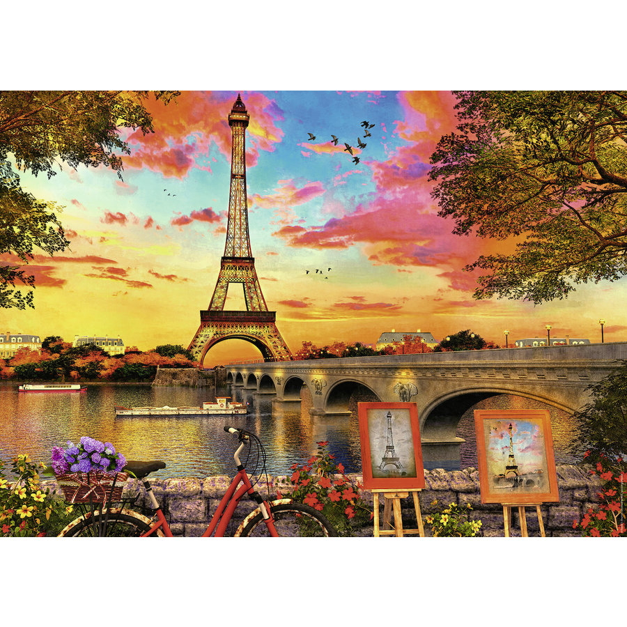 The banks of the Seine - puzzle of 1000 pieces-1