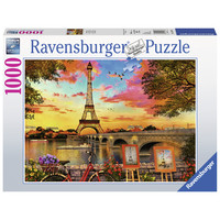 thumb-The banks of the Seine - puzzle of 1000 pieces-2