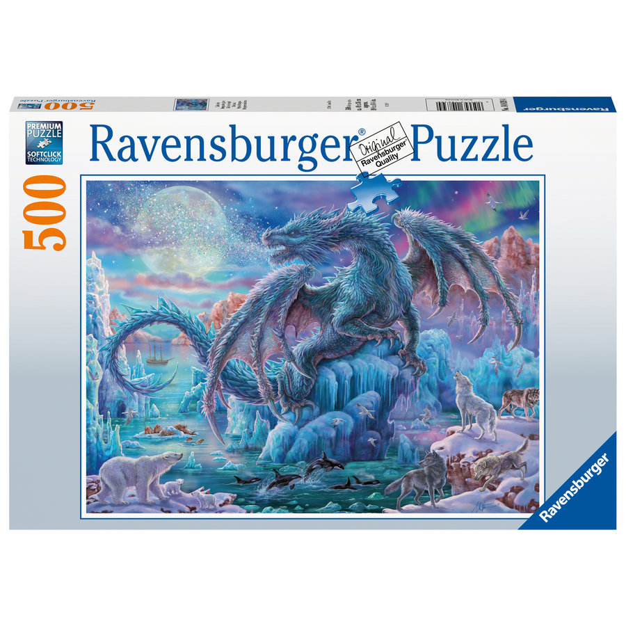 Ice Dragon - jigsaw puzzle of 500 pieces-2
