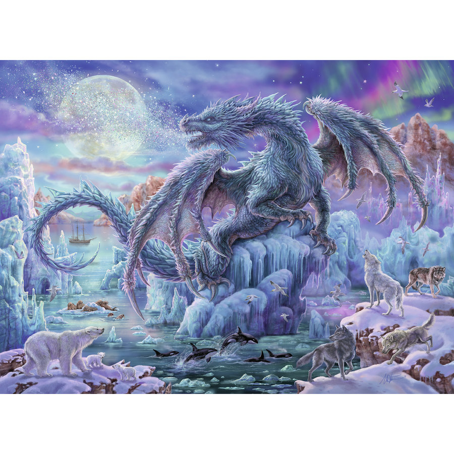 Ice Dragon - jigsaw puzzle of 500 pieces-1