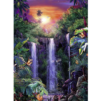 thumb-Magnificent waterfalls - jigsaw puzzle of 500 pieces-1
