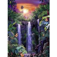 thumb-Schitterende watervallen - puzzel van 500 stukjes-1