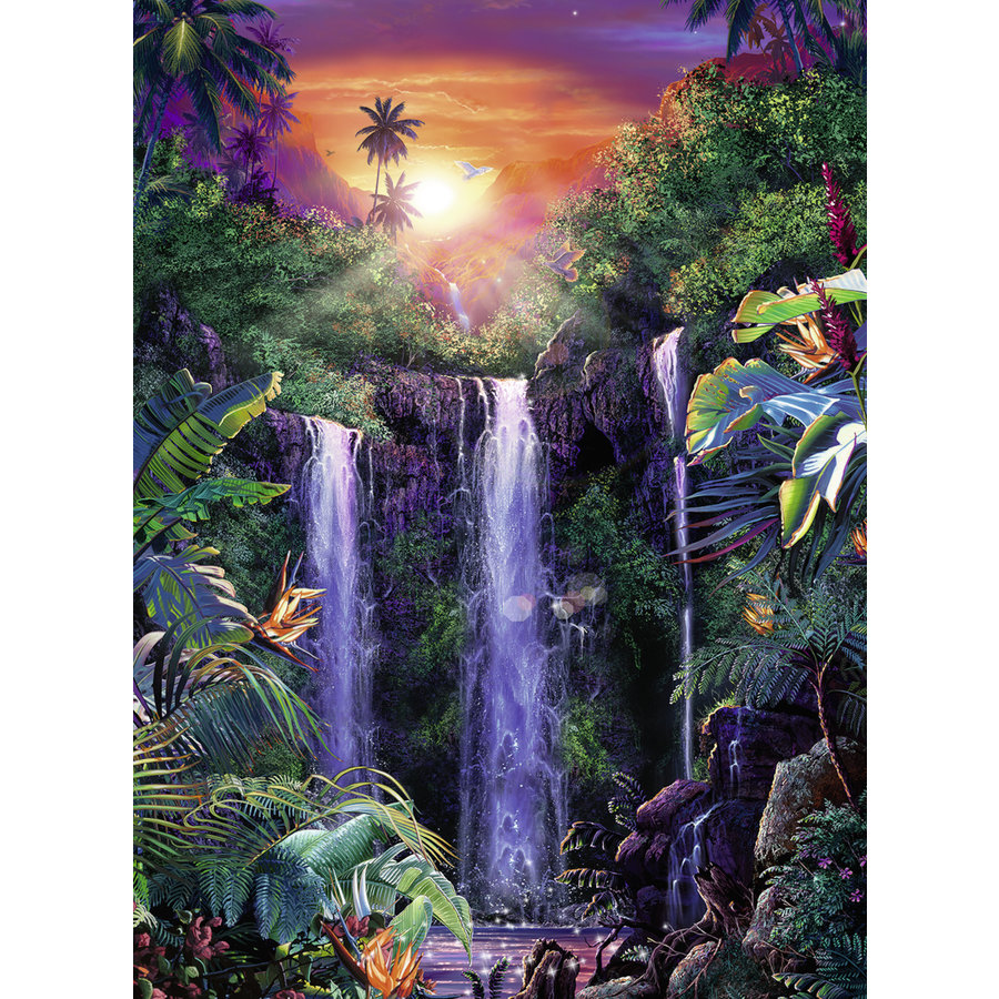 Magnificent waterfalls - jigsaw puzzle of 500 pieces-1