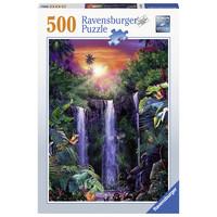 thumb-Schitterende watervallen - puzzel van 500 stukjes-2
