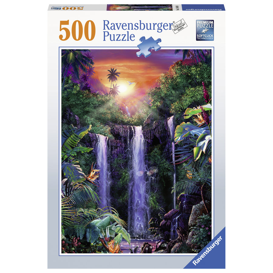 Magnificent waterfalls - jigsaw puzzle of 500 pieces-2