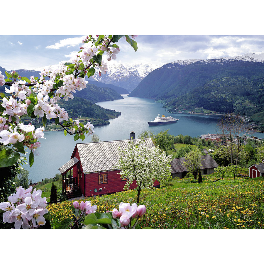 Scandinavian idyll - jigsaw puzzle of 500 pieces-1