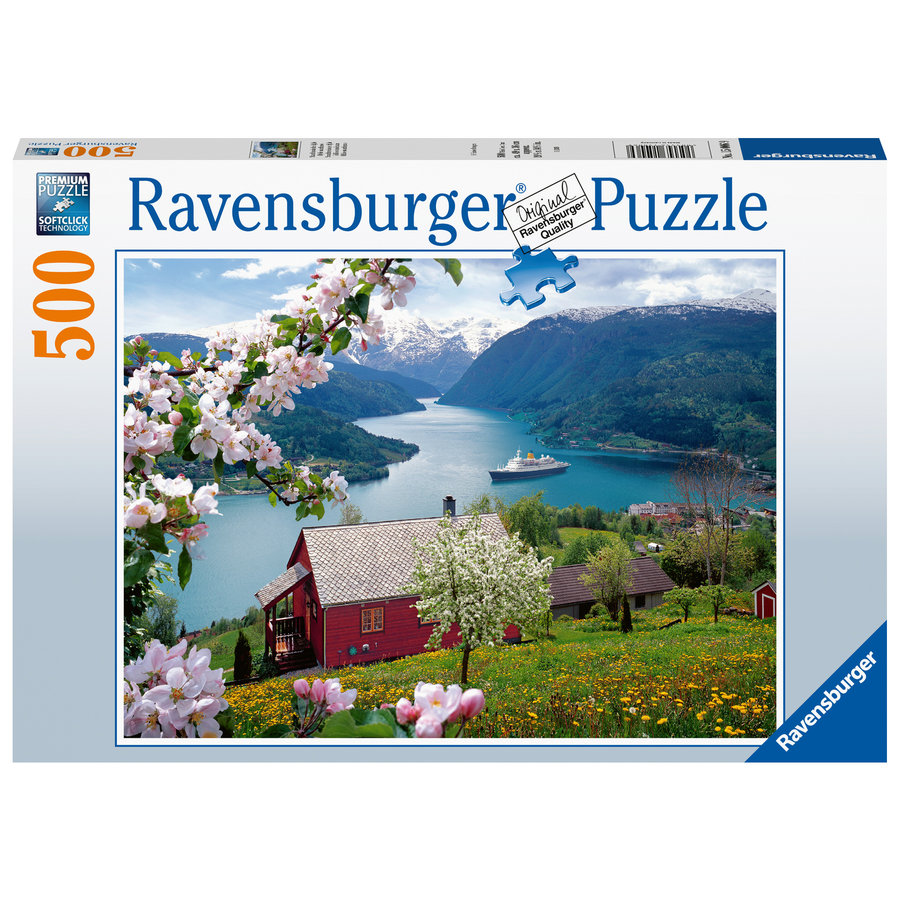 Scandinavian idyll - jigsaw puzzle of 500 pieces-2