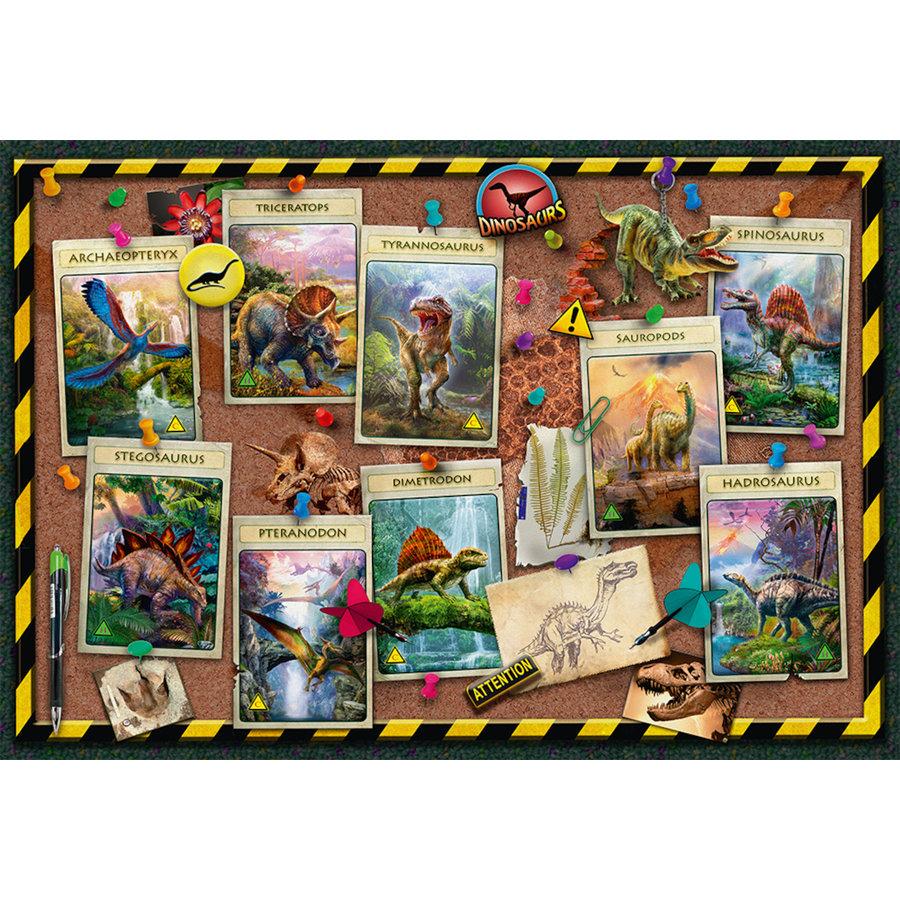 Dino verzameling  - puzzel van 100 stukjes-1