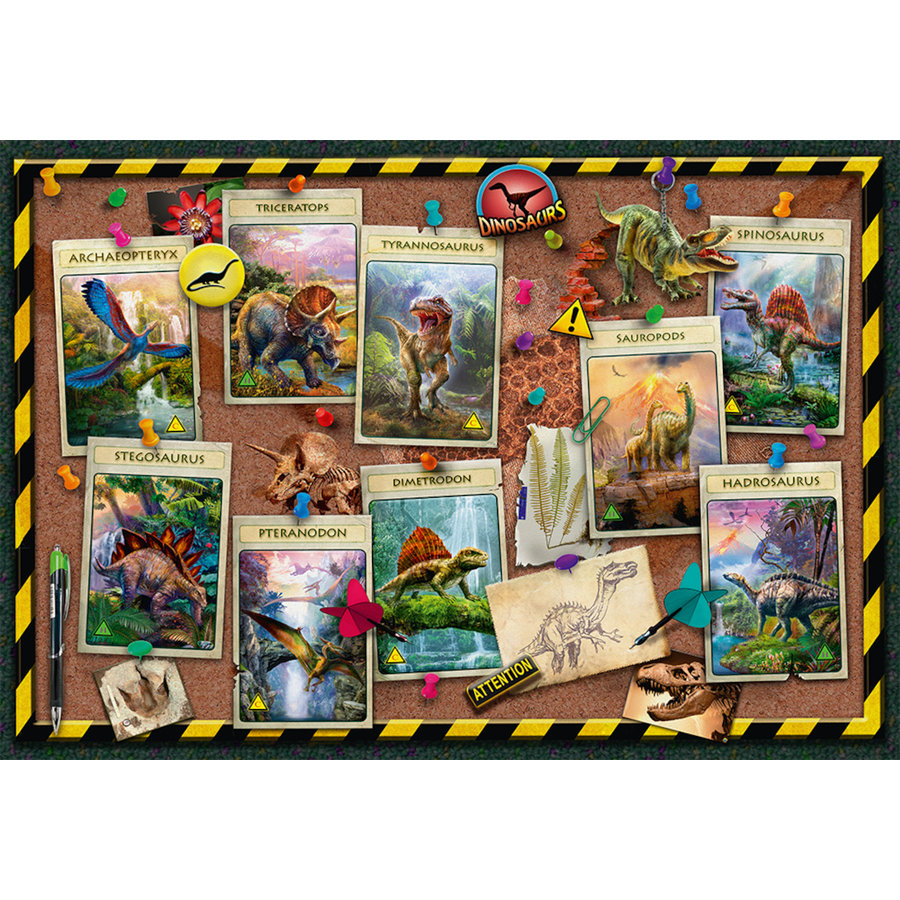 Dinosaur collection - puzzle of 100 pieces-1