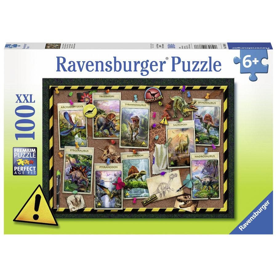 Dino verzameling  - puzzel van 100 stukjes-2