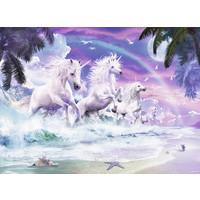 thumb-Licornes sur la plage  - puzzle de 150 pièces-1
