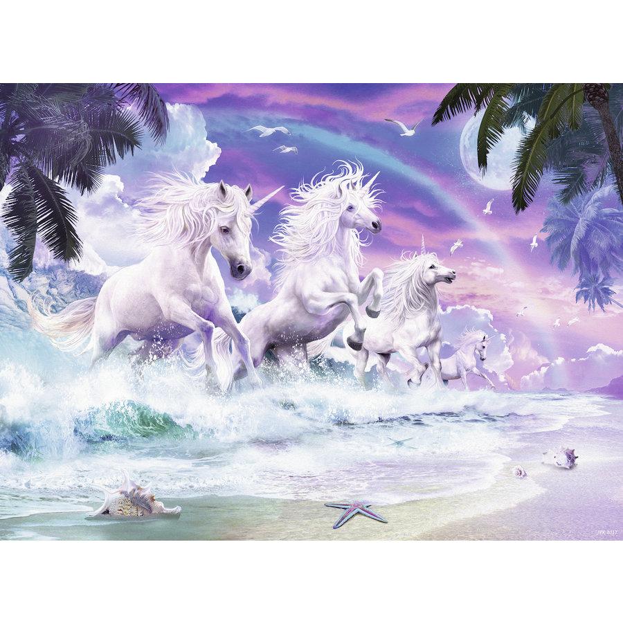 Licornes sur la plage  - puzzle de 150 pièces-1