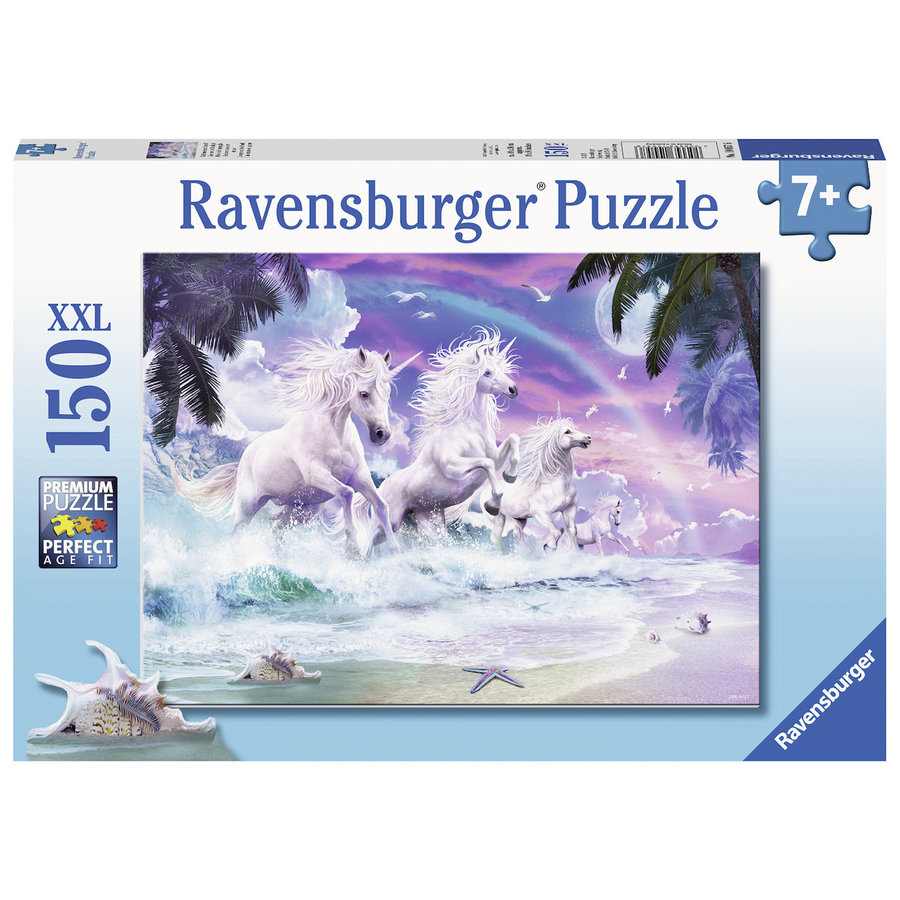 Eenhoorns op het strand  - puzzel van 150 stukjes-2