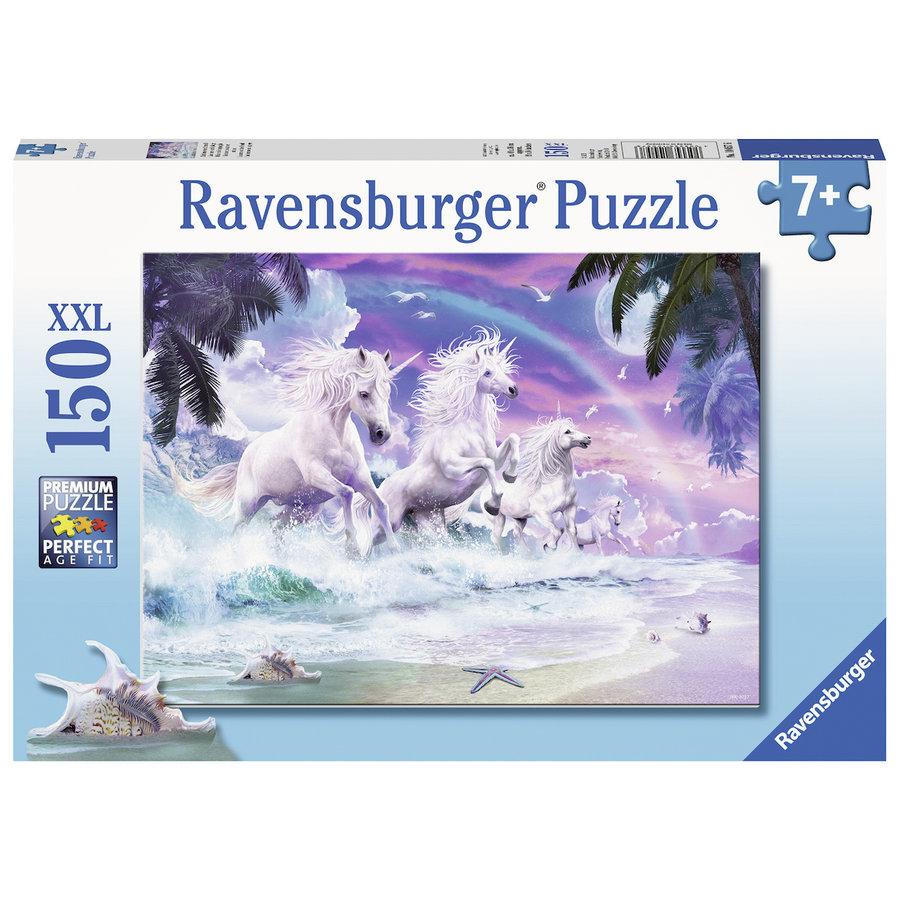 Licornes sur la plage  - puzzle de 150 pièces-2