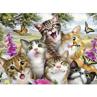 thumb-Vrolijke katjes - puzzel van 200 stukjes-1