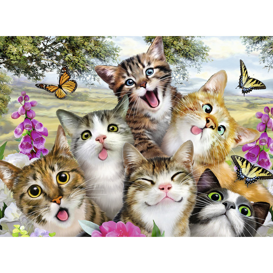 Cheerful kittens - 200 piece puzzle-1