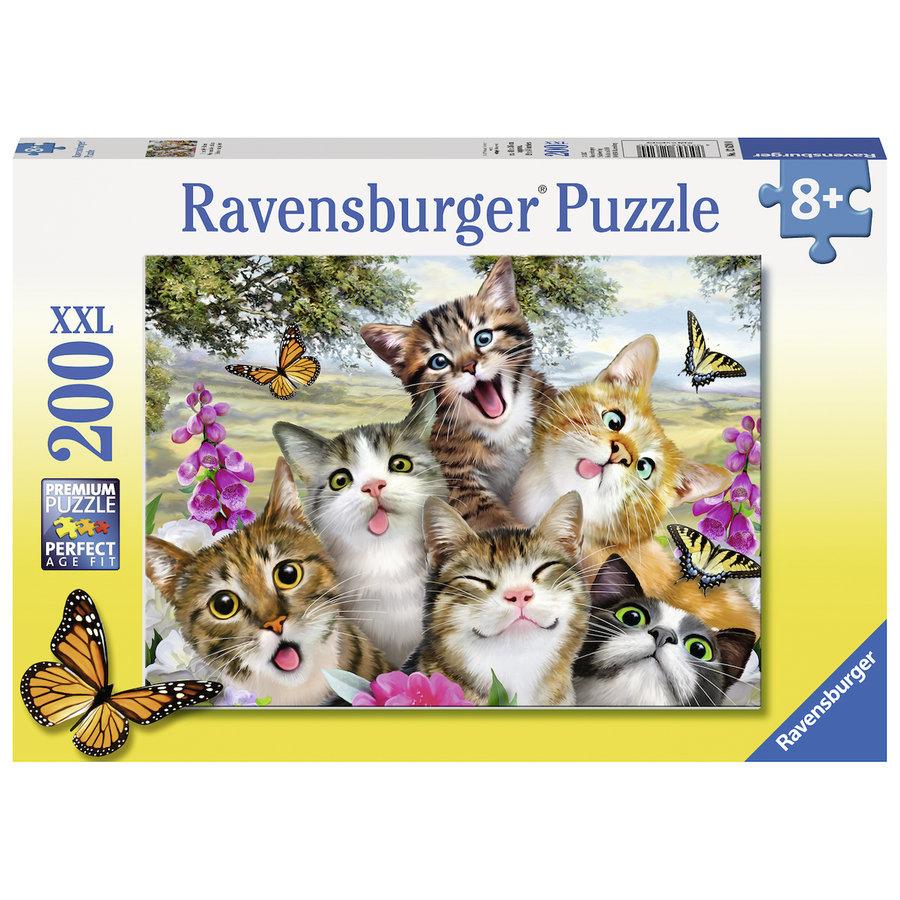 Vrolijke katjes - puzzel van 200 stukjes-2
