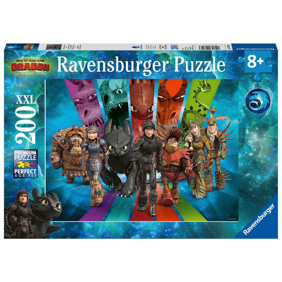 Dragons 3 - Dragon Rider- Puzzle de 200 pièces-1