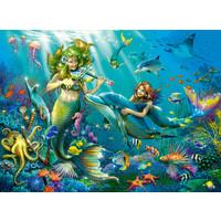 thumb-Zeemeerminnen - Glitter - puzzel van 100 stukjes-1