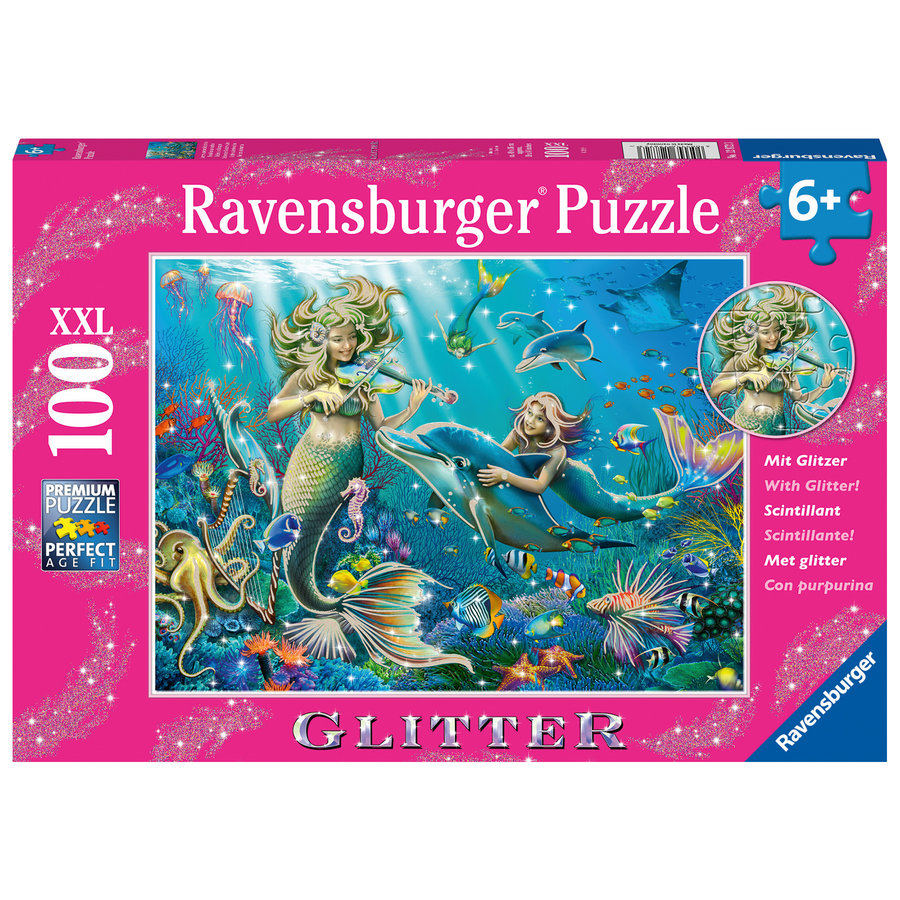 Mermaids - Glitter - puzzle of 100 pieces-2