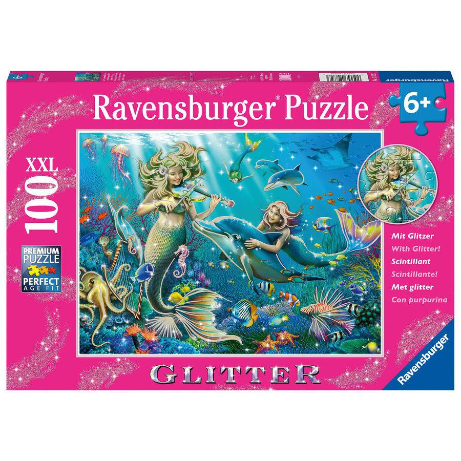 Zeemeerminnen - Glitter - puzzel van 100 stukjes-2