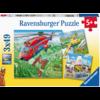 Ravensburger Boven de wolken  - 3 puzzels van 49 stukjes
