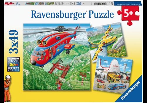Ravensburger Boven de wolken - 3 x 49 stukjes