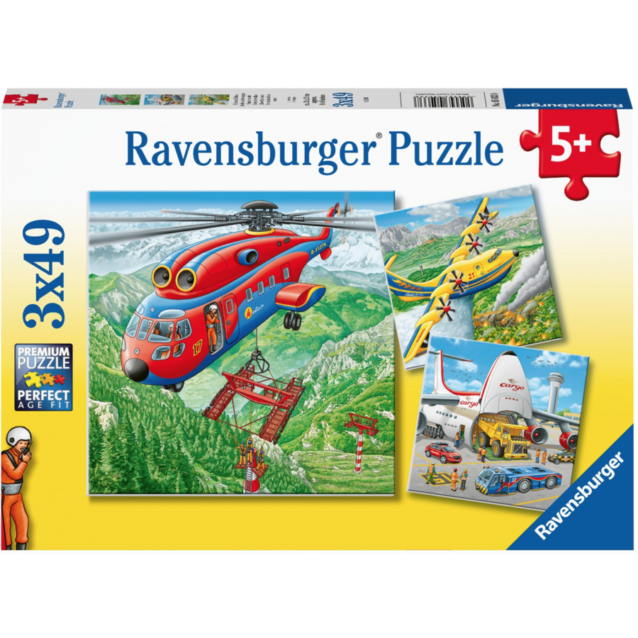 Above the clouds - 3 puzzles of 49 pieces-1