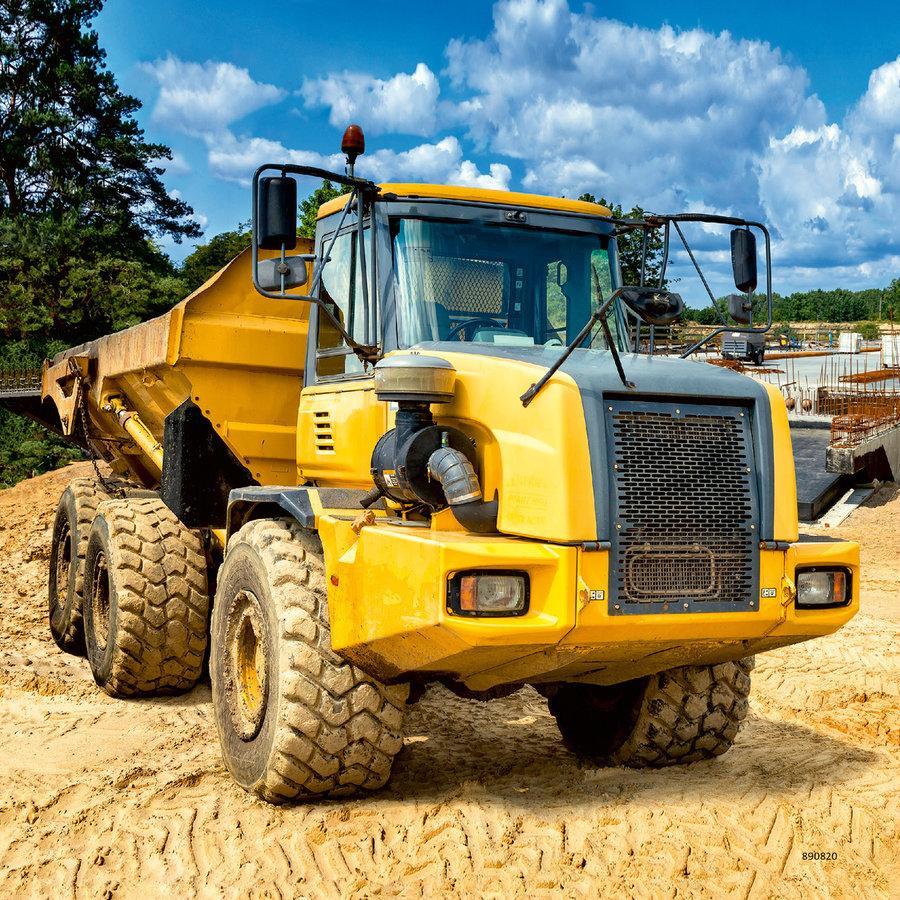 Construction vehicles - 3 puzzles of 49 pieces-2