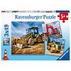 Ravensburger Véhicules de constructions   - 3 puzzles de 49 pièces