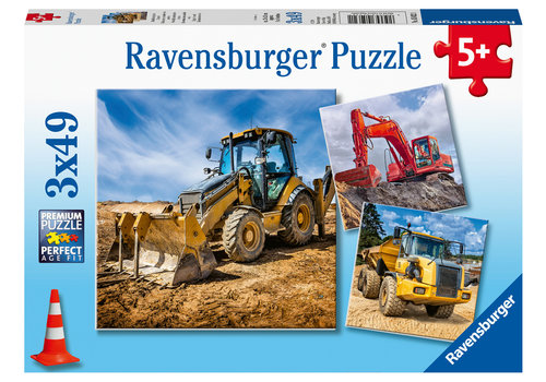 Ravensburger Bouwvoertuigen - 3 x 49 stukjes