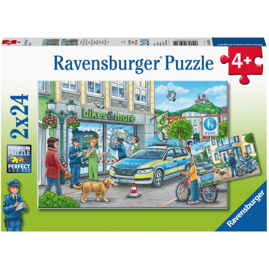 De politie - 2 puzzels van 24 stukjes-1