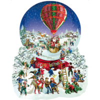 Old Fashioned Snow Globe  - jigsaw puzzle of 1000 pieces