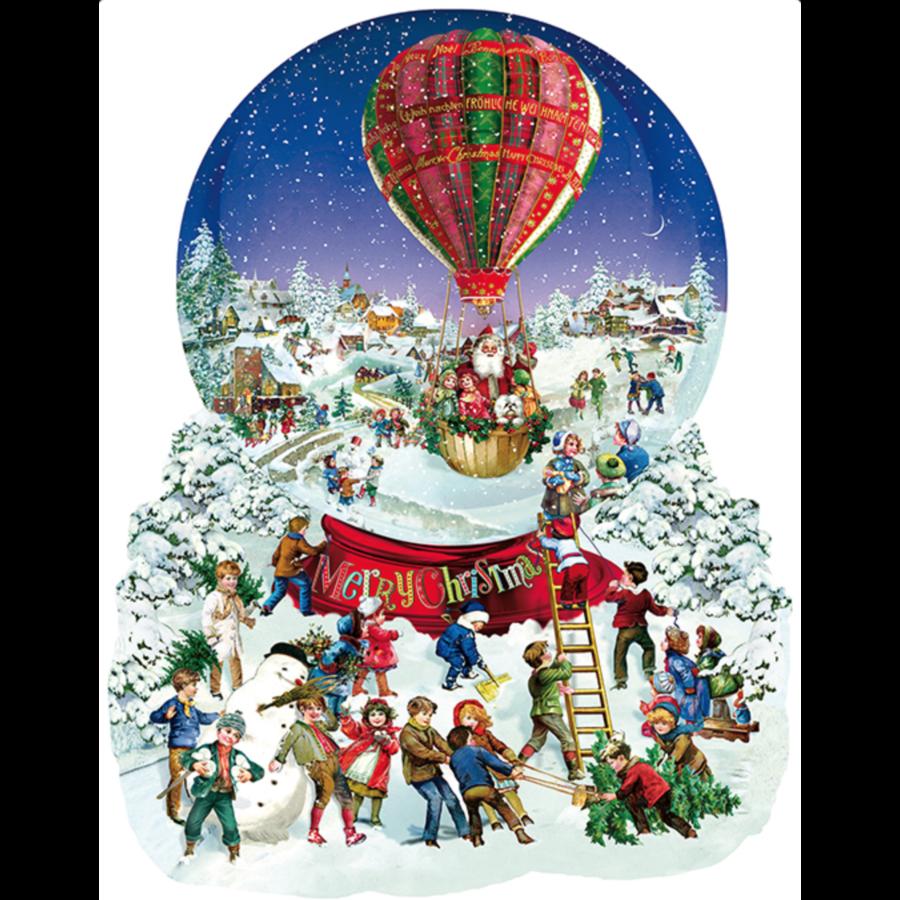 Boule à neige à l'ancienne  - puzzle de 1000 pièces-1