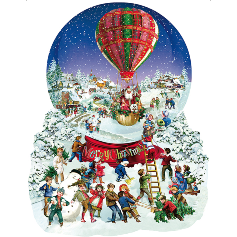 Old Fashioned Snow Globe  - jigsaw puzzle of 1000 pieces-1
