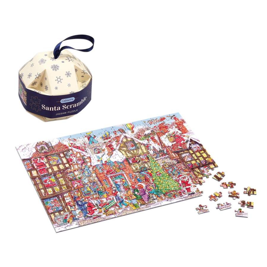 Santa Scramble Bauble - puzzle 250 pieces-4